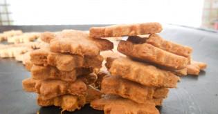 Recept na psí křupavé jablečné sušenky